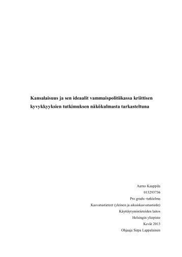 Kansalaisuus ja sen ideaalit ... - Helda - Helsinki.fi