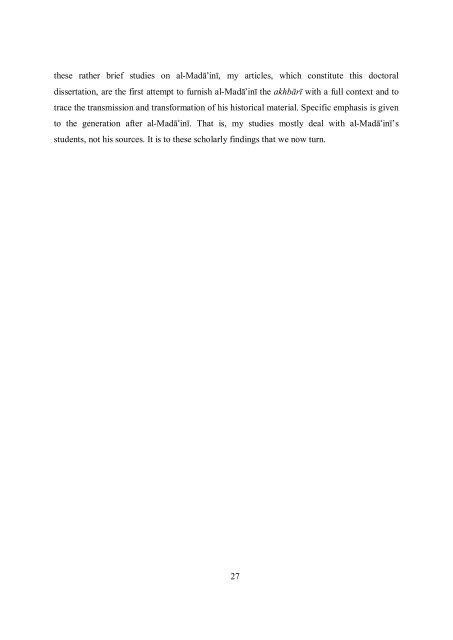 Historiographical Studies - Helda