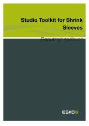 Studio Toolkit for Shrink Sleeves ... - Esko Help Center