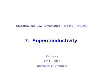 7. Superconductivity - University of Liverpool