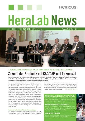 HeraLab News 01/2010 - Heraeus Kulzer