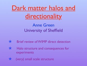 Dark matter halos and directionality