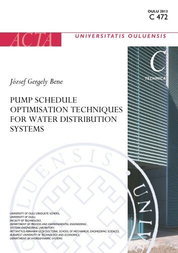 Pump schedule optimisation techniques for water distribution ... - Oulu