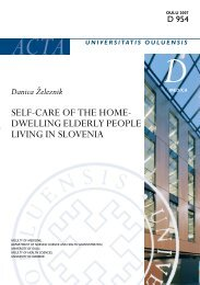 Self-care of the home-dwelling elderly people living in Slovenia