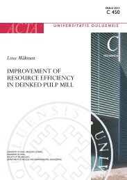 Improvement of resource efficiency in deinked pulp mill - Oulu