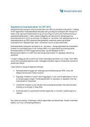 Kostnadsvektarbeidet for ISF 2013 - Helsedirektoratet