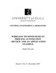 Wireless Technologies in Process Automation - Herkules.oulu.fi - Oulu