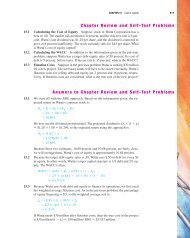 Answers to Chapter Review and Self-Test Problems Chapter ...