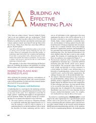 Appendix A: Building an Effective Marketing Plan - McGraw-Hill