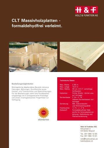 CLT Massivholzplatten - formaldehydfrei verleimt. - Holz & Funktion ...