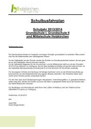 Schulbusfahrplan 2013/2014 - Holzkirchen