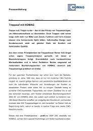 Treppauf mit HOMAG - HOMAG Group - Homag ...