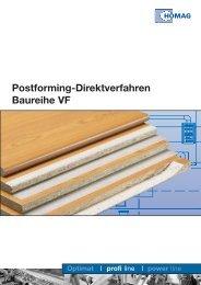 Postforming-Direktverfahren Baureihe VF - HOMAG Group - Homag ...