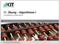 11. Übung – Algorithmen I - Timo Bingmann, Christian Schulz