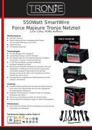 550watt Smartwire Force Majeure Tronje Netzteil