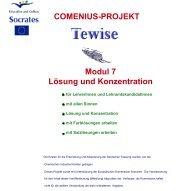 Modul 7 Lösung und Konzentration COMENIUS-PROJEKT - schule.at