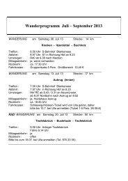 Wanderprogramm Juli – September 2013 - Hamburg