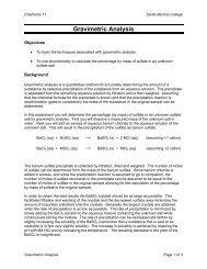 Gravimetric Analysis - Santa Monica College
