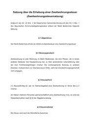 Satzung über die Erhebung einer Zweitwohnungssteuer - Bodenmais