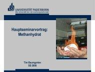 Hauptseminarvortrag: Methanhydrat