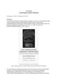 Chronologie Friedrich Würzbach - Homepage.uni-tuebingen.de