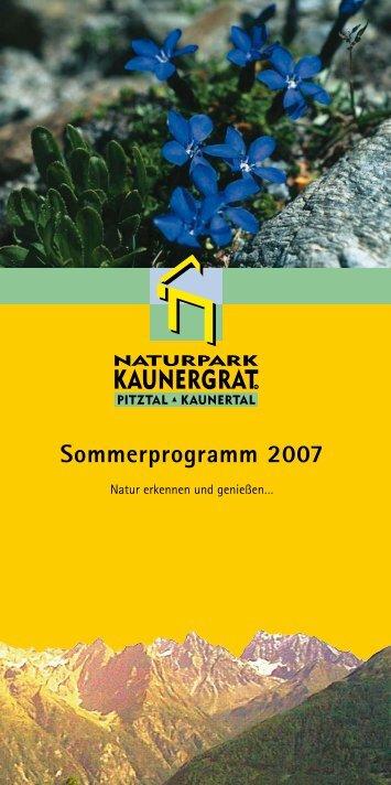 Sommerprogramm 2007 - Tiscover