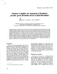 Resistance to fungicides and streptomycin in Phytophthora ...