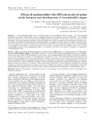 Effects of anthelminthics with different modes of action on the ...