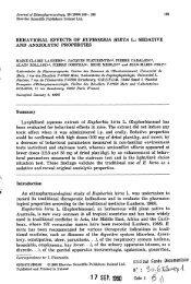 Behavioral effects of Euphorbia hirta L. : sedative and anxiolytic ...