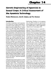 Genetic engineering of apomixis in sexual crops - Horizon ...