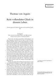 Thomas von Aquin: Kein vollendetes Glück in diesem Leben - Hoye.de