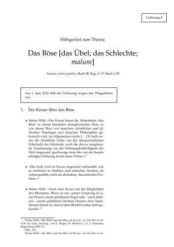 Das Böse [das Übel; das Schlechte; malum] - Hoye.de