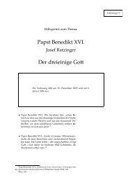 Papst Benedikt XVI. Der dreieinige Gott