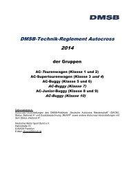 Technische DMSB-Bestimmungen 2014 für die Gruppe Autocross