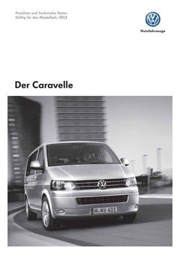 """WEB-Preisliste """"Der Caravelle"""", KW 01/2013, Modelljahr 2013"""