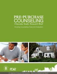 Pre-Purchase Counseling Outcome Study: Research ... - HUD User