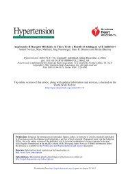 Angiotensin II Receptor Blockade - Hypertension