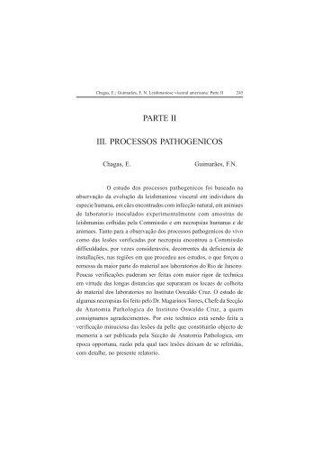 PARTE II III. PROCESSOS PATHOGENICOS - Governo do Estado ...