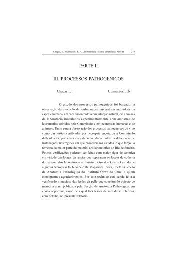 PARTE II III. PROCESSOS PATHOGENICOS - Governo do Estado ...