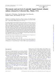 Movements and survival of sonically tagged farmed Atlantic salmon ...