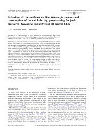 Behaviour of the southern sea lion - ICES Journal of Marine Science