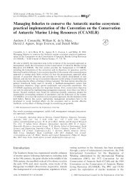 Managing fisheries to conserve the Antarctic marine ecosystem ...
