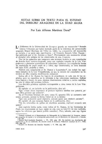 4. Notas sobre un texto para el estudio del derecho aragonés en la ...