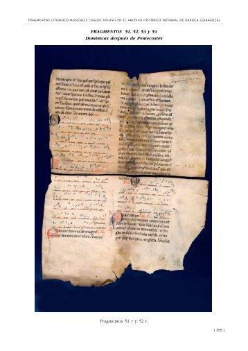 Fragmentos 51, 52, 53 y 54: Dominicas después de Pentecostés
