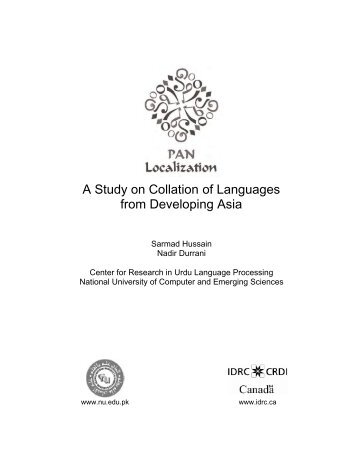 A Study on Collation of Languages from Developing Asia - IDL-BNC ...