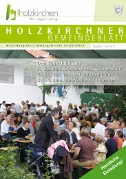 Herzliche Einladung! Drei Tage Jubiläum Fr 22. Juni ... - Holzkirchen