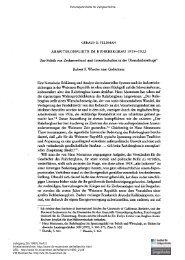 Arbeiterkonflikte im Ruhrbergbau 1919-1922. Zur Politik von ...
