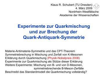 Experimente zur Quarkmischung und zur Brechung der Quark ...