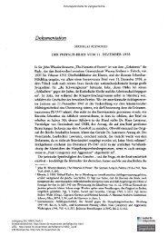 Der Fritsch-Brief vom 11. Dezember 1938