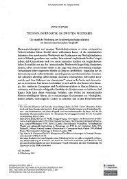 Technologiepolitik im Zweiten Weltkrieg. Die staatliche Förderung ...